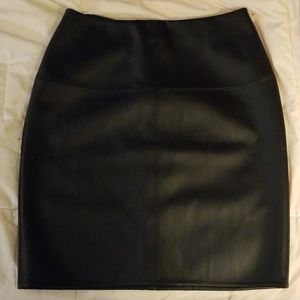 Missguided Black Faux-Leather Miniskirt Like New